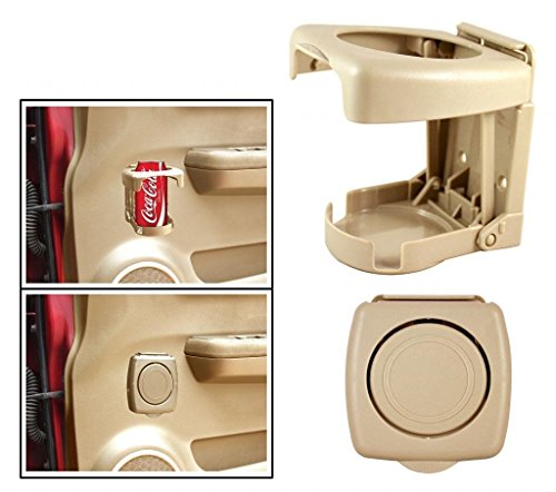 ManeKo Foldable Car Drink/Can/Glass/Bottle Holder for Hyundai Verna Fluidic All Models & Types - Beige Color  available at amazon for Rs.199