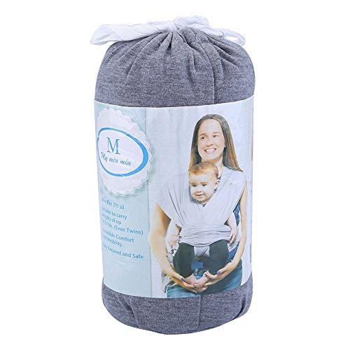 Zogin Elastisches Babytragetuch Baby Carrier Babytragen babytuch für Neugeborene & Babys 0 - 18 Monate, 3 - 12 kg ( dunkelgrau ) - 2