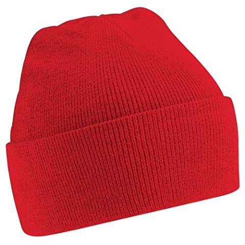 Beechfield Unisex Junior Kids Knitted Soft Touch Winter Hat (One Size) (Classic Red)