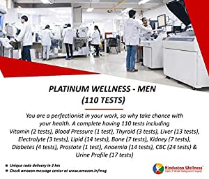 Hindustan Wellness Platinum Wellness - Men Full Body Checkup (110 Tests) (Voucher Code delivered through email in 2 hours after order confirmation)