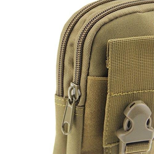 Tasche Sporttasche Handytasche Bodybag Freizeittasche Beutel Geldbeutel bei Hummel Wandern Joggern Klettern Radfahren für alle Damen und Herren unisex Grau