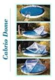 Abdeckung Cabrio-Dome Stahlwandbecken 4,00m rundform Poolheizung Poolüberdachung