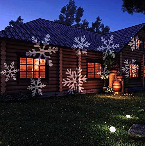LightMe Utorch tragbare LED-Projektion Taschenlampe mit Kartenwechsel für Outdoor Halloween Weihnachtsdekoration