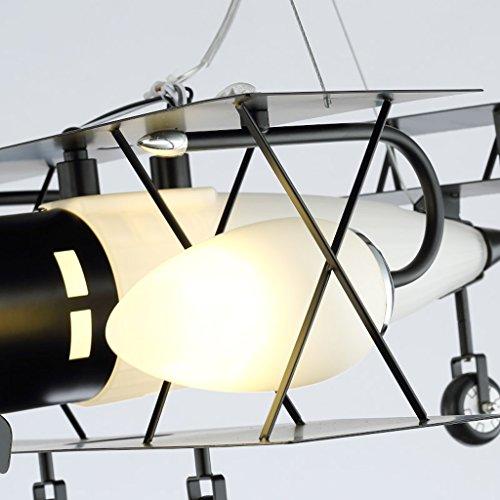 Guo Kinderzimmer-Lichter Jungen-Raum-Flugzeug-Lichter Kronleuchter-Pers5onlichkeit-kreative Eisen-Lampen E14 Lampen-Hafen - 3