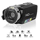 """Powerlead Videocamera Digitale Camcorder con Schermo da 2.7"""", Fotocamera da 24MP, 1080P FHD Full HD, Zoom Digitale 16X, Leggera e Compatta"""