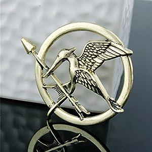 Formemory Vintage Spott Vögel Brosche Antik Spottdrossel Pin für Männer & Frauen Hunger Games Mockingjay Pin Brosche, 3st.