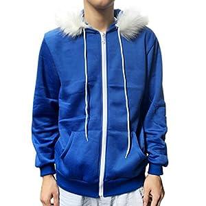 VENMO Männer Frauen Cosplay Fleece Kapuzenjacke Pullover Kostüm Warm Sport Mantel Kapuzen-Sweatshirt Herbst Winter Reißverschluss Kapuzenpulli Mantel Warm Pullover Outwear Tops Bluse