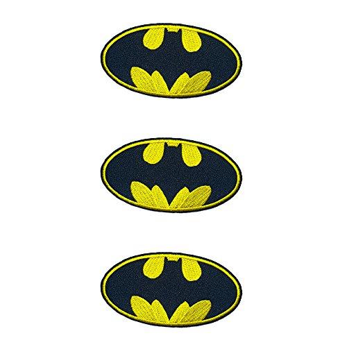 Inspiriert Kostüm Batman - Anwendung Classic DC Comics Batman Logo Cosplay Badge gesticktes Eisen oder aufgesetzte Aufnäher Patch 3er Pack Geschenk-Set