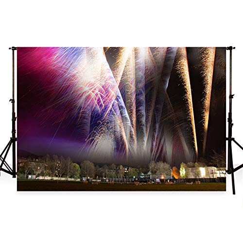 5 X 7 Rugby (WaW Feuerwerk Fotografie Kulissen luxuriöse Feuerwerk Kulissen am Lagerfeuer nachts Bath Rugby Club 7x5ft(2.2x1.5m))