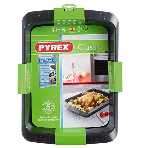 pyrex-40-x-30-cm-classic-rectangular-carbon-steel-non-stick-metal-roaster