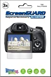 3x Sony CyberShot DSC-HX300 DSC-HX300V DSC-HX400 DSC-HX400V Digital Camera Premium Clear LCD Screen Protector no cutting, Exact fit and satisfaction guaranteed! (3 Pieces, GUARMOR Brand)