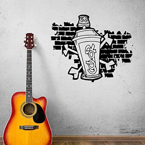 guijiumai Graffiti Street Art Adesivi murali con Immagini Divertenti per Soggiorno Decorazioni d'Arte Decalcomanie da Muro in Vinile Murales di Fondo casa76.5X63CM