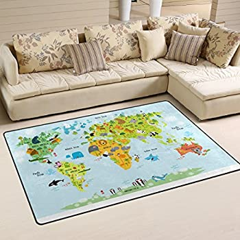 3d earth round carpet parlor living room mats world map printed jstel ingbags super soft modern map of the world with animals area rugs living room carpet bedroom rug for children play solid home decorator floor rug and gumiabroncs Gallery