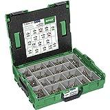 SPAX Montagekoffer, L-BOXX, Groß, Edelstahl rostfrei A2, T-STAR plus, Senkkopf, 17 Abmessungen, 1070 Stück, inkl. SPAX BITs, 5000009165019
