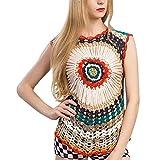 Baijiaye Mujer Blusa Tops Multicolor Indirecto Tejido De Punto Ahuecar Elegante Camiseta Big Plum Floral Tejer Suéter Rosa