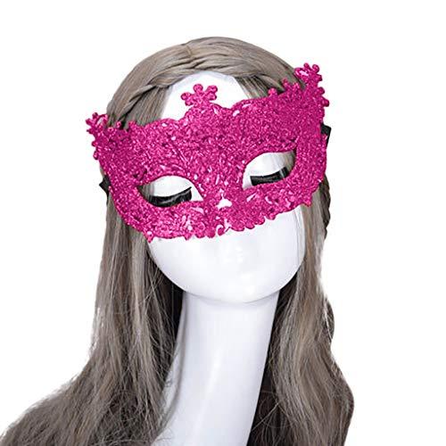 Covermason Bekleidung Fasching Maske Gold 2019 Karneval Maske Venezianisch für Damen Maskerade Masken Mardi Gras Party Kostüm Festival (Pink)