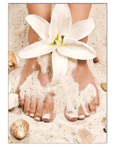 Poster Summer Pediküre Fusspflege DIN A3 Nagelstudio Nageldesign Nailart Wandgestaltung Kosmetik Nails 29,7x42,0cm (Spa Pediküre)
