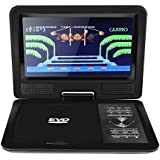 LCD HD DVD Player 270 Degree Swivel Screen Portable TV Game Player With USB/SD Card Reader/AV OUT/Car Charger/Gamepad/Remote Control US Plug