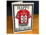 Maglia da hockey su ghiaccio NHL National Hockey League Fridge Magnet – Biglietto di auguri per compleanno NHL occidentale Conferenza – Qualsiasi nome, qualsiasi numero e squadra, personalizzazione inclusa., Donna uomo Bambino, Chicago Blackhawks NHL Fridge Magnet Card, A5 Fridge Magnet Greeting Card