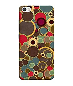 PrintVisa Designer Back Case Cover for Xiaomi Mi 5 :: Redmi Mi5 (Red Blue Circle Repeat Wallpaper Illustration Vector)