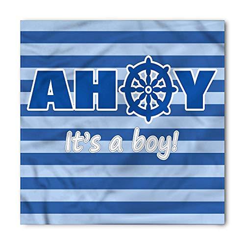 Ahoy Its a Boy Bandana, New Birth Baby, Unisex Head and Neck Tie Head and Neck Tie Neckerchief Headdress Silk-Like 100% Polyester