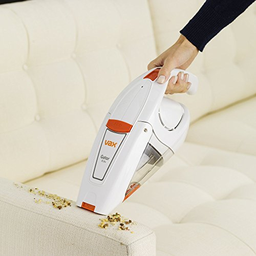 Vax H85-GA-B10 Gator Cordless Handheld Vacuum Cleaner, 0.3 L – White/Orange