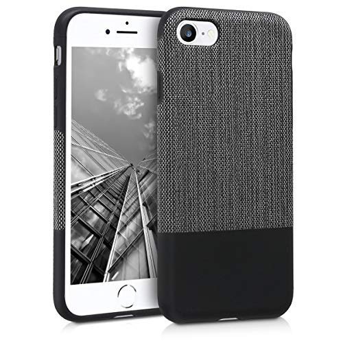 kwmobile Apple iPhone 7/8 Hülle - Handyhülle für Apple iPhone 7/8 - Handy Case Cover Stoff Schutzhülle