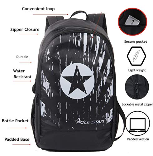 POLESTAR Amaze 30 LTR Black Casual/Travel Backpack with Laptop Compartment Image 2
