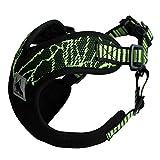 No-Pull-Hundegeschirr Sicher Brustgeschirre Vest Harness Verstellbares Führendes Welpengeschirr Reflektierende Sport Training Laufgeschirre Haustier Geschirr für Kleine und Mittelgroße Hunde (L, grün)