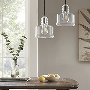 Capella London Bell Shaped Clear Glass Hanging Lignt