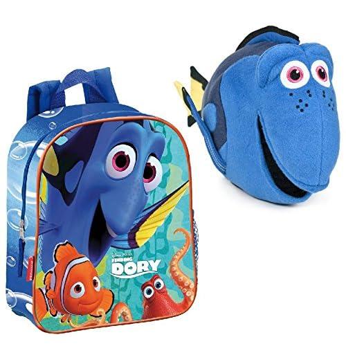 Nemo: Pack Mochila Buscando A Dory de 28 cm (28x24x10 cm) + Peluche Buscando A Dory, Dory, 30 CM. 8