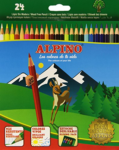 Alpino 722854 - Coloured Pencils, Wallet of 24 - Assorted Colours