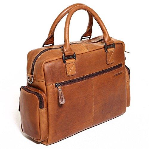 Solo Pelle Messenger Tasche / Umhängetasche aus echtem Leder Model: Valencia (Vintage Braun) Vintage Braun