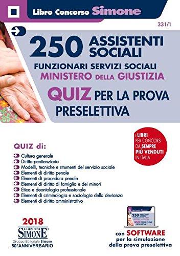 Concorso 250 Assistenti sociali - Funzionari servizi sociali - Ministero della Giustizia - Quiz per la prova preselettiva