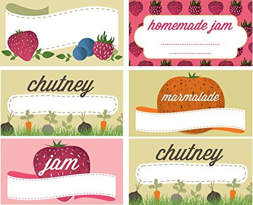 Jam e riserva di etichette Jar (confezione da 144) di Nutley