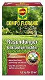 Compo 13300 - Floranid, fertilizzante per prato con diserbante, 1,5 Kg per 50 mq