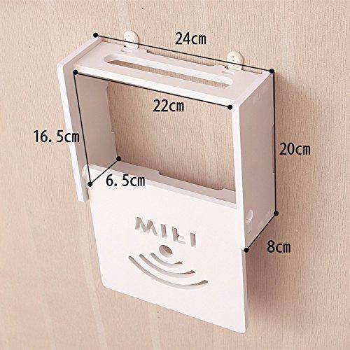 Preisvergleich Produktbild Creative Wand TV Set-Top-Box Rack gratis Stanz Regal, Wohnzimmer Router Aufbewahrungsbox zum aufhängen, Schlafzimmer Partition, D