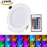 LED Deckenleuchte Dimmbar 16 Farben mit Fernbedienung XJLED 10W LED