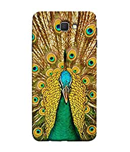 FUSON Designer Back Case Cover for Samsung On7 (2016) New Edition For 2017 :: Samsung Galaxy On 5 (2017) (Nice Colourful Long Peacock Feathers Beak)