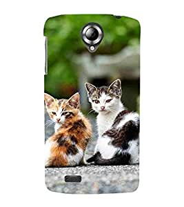 For Lenovo S820 beautiful cat ( ice cat, cat, cute cat, animal, two cat ) Printed Designer Back Case Cover By Living Fill