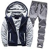 Luckycat Herren Hoodie Winter Warm Fleece Zipper Sweater Jacke Outwear Mantel Top Hosen Sets Winterjacke Steppjacke Daunenjacke Parka Mäntel Jacken