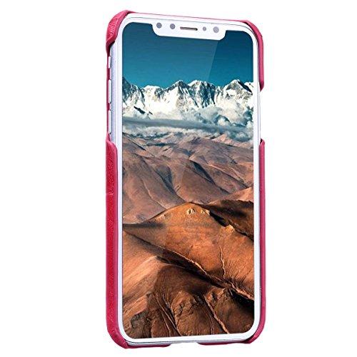 Yokata iPhone 8 Hülle Hardcase Ultra Dünn Slim Handyhülle Schutz Handytasche Backcover Blume Muster Schutzhülle mit Kartenfach Anti-Kratzer Stoßfest Hart PC Handy Tasche Schale Etui Rückschale für iPh Rot