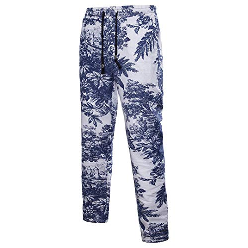 Frühling Herbst tragen Männer Set Shirt + Hosen Freizeithemden Anzug Baumwolle Leinen Ganzkörperansicht 3D-Druck Pants XL