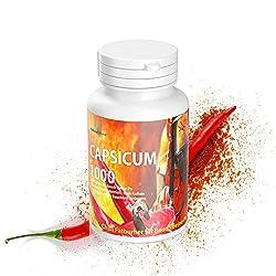 Capsicum 180 Kapseln - Mexico Chili Fatburner für Bauch-Beine-Po