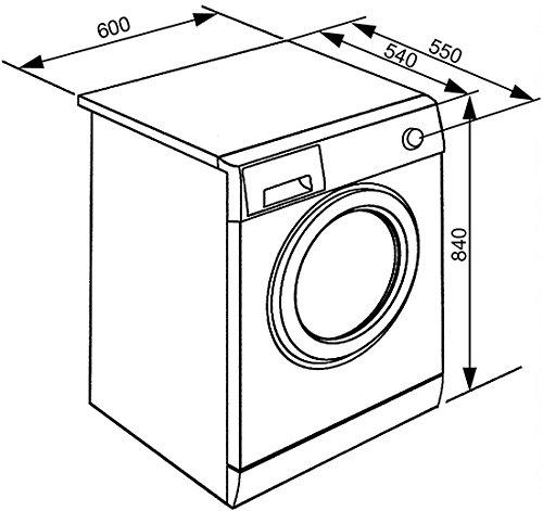 Smeg WHT812LSIT Libera installazione Caricamento frontale 8kg 1200Giri/min A+++ Argento, Bianco lavatrice