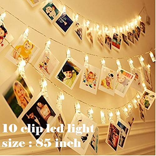 Satyam Kraft Battery Powered 10 Clip Lights Indoor Outdoor Decoration Christmas Light Rope for Party/Birthday/Diwali/Christmas/Navratri