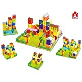 AdiChai Sweet Home Large Building Blocks with 64 Pieces 1 Base Plate and 1 Manual - Construction and Building Block Toy…