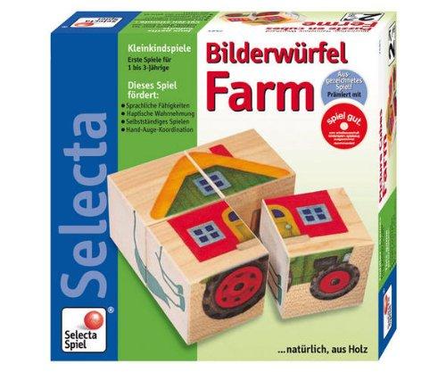 Imagen principal de Selecta 2485 La Granja - Puzzle de cubos para bebés (4 cubos)