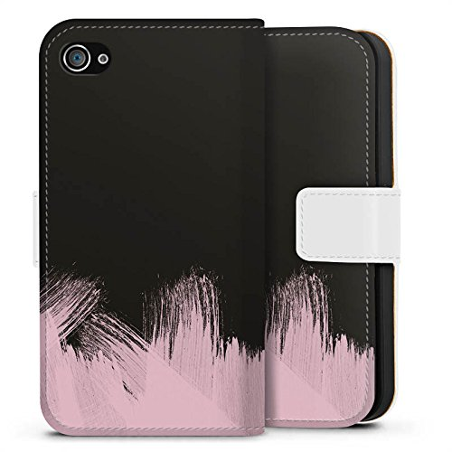Apple iPhone 7 Silikon Hülle Case Schutzhülle Pantone Pastell Rose Sideflip Tasche weiß