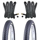 2x Kenda Fahrradreifen 14 Zoll Reifen 14x1.75 47-254 inkl. 2 x Schlauch mit AV